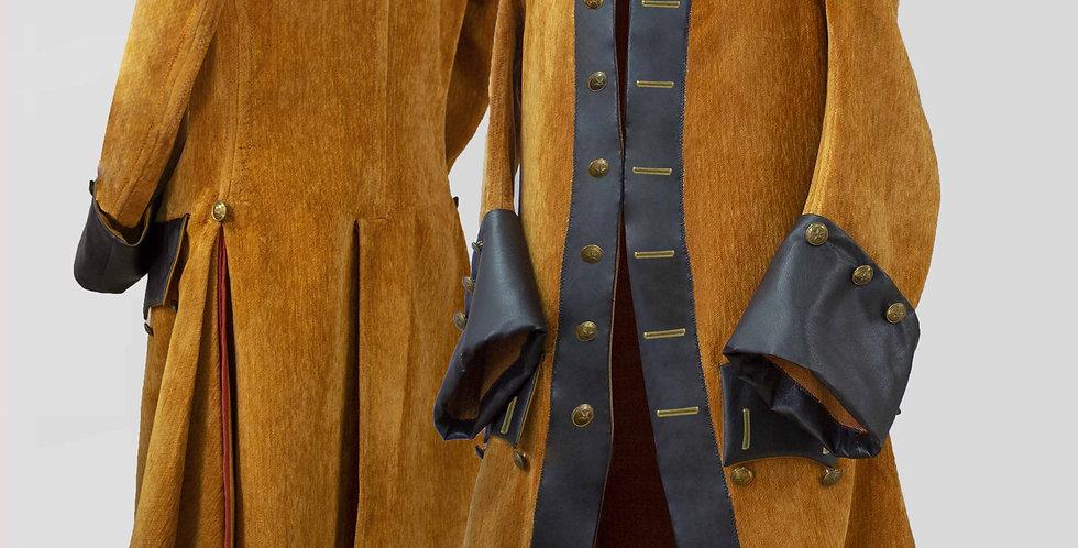 BARBE-ROUSSE, veste avec cuir sur les devants et les parements de manches