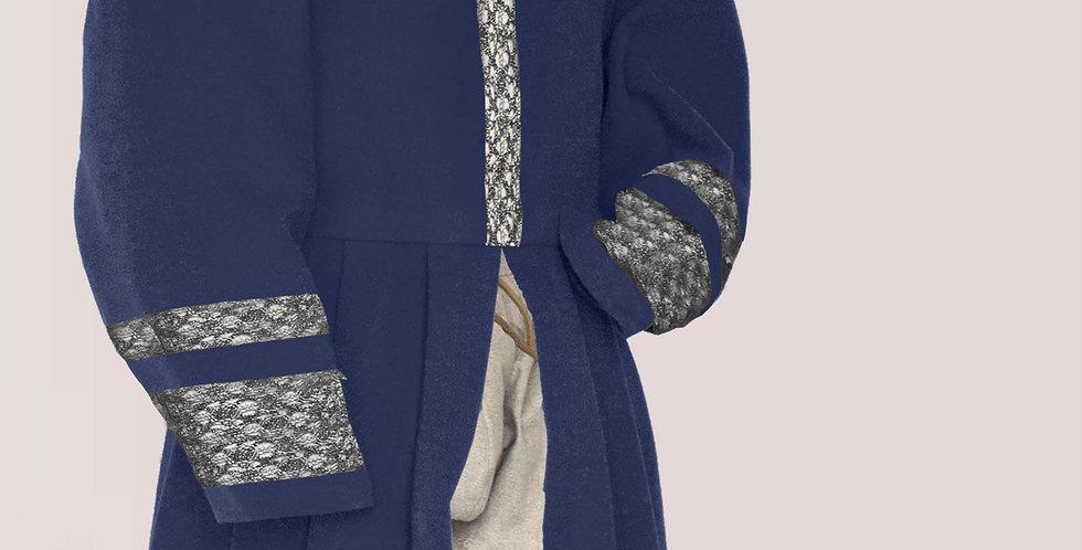 POURPOINT LONG TRALALA, modèle largement galonné,choix de tissus et de couleurs