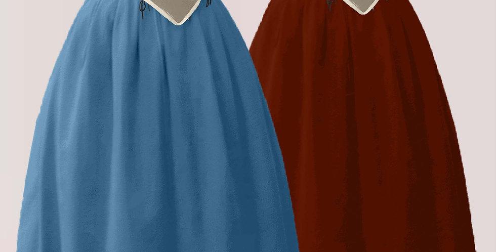 Jupe BASAL, montée plis plat, large choix de couleurs