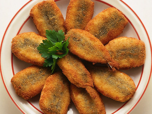 Cotolette di alici (Fresh anchovies breaded)