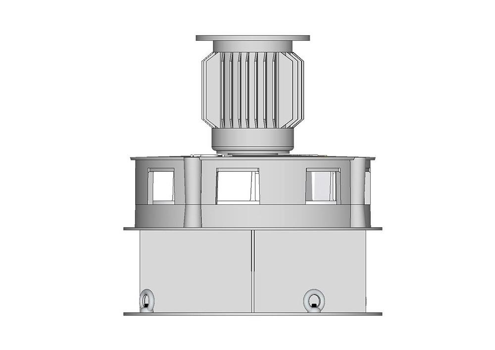 Le moteur est au dessus de la turbine Pakita LC.