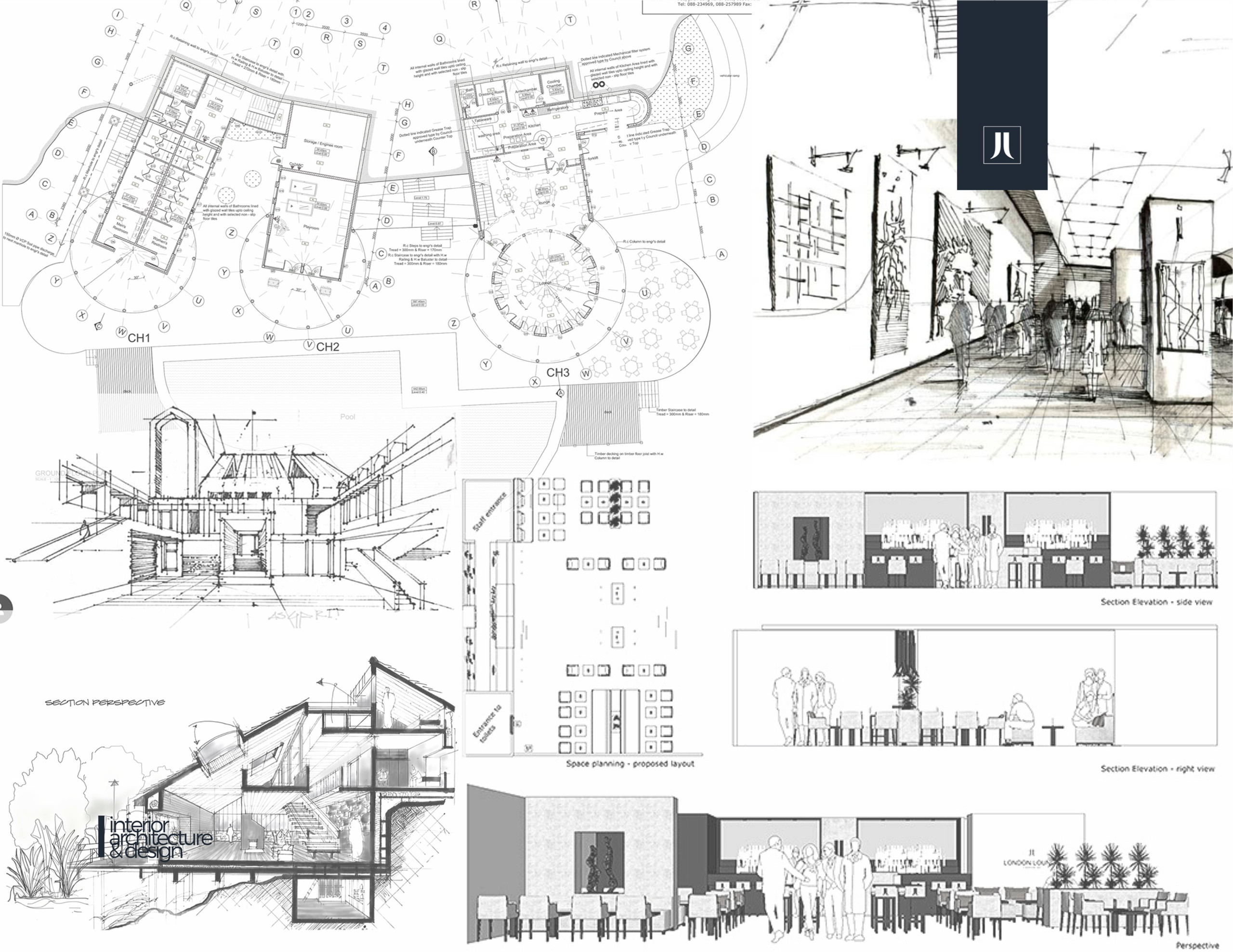 Visualisation, drawings and sketches | interior design process