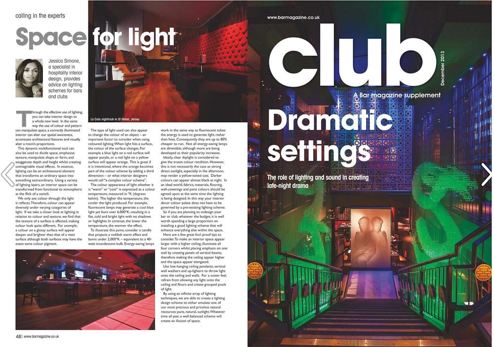 Professional advice on Lighting Design by Jessica Lightbody