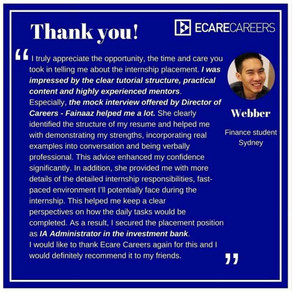 """""""THANK YOU ECARECAREERS"""" 