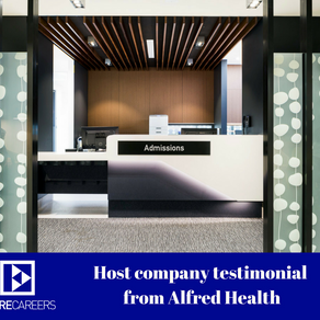 A LETTER FROM ECARECAREERS HOST COMPANY | ALFRED HEALTH