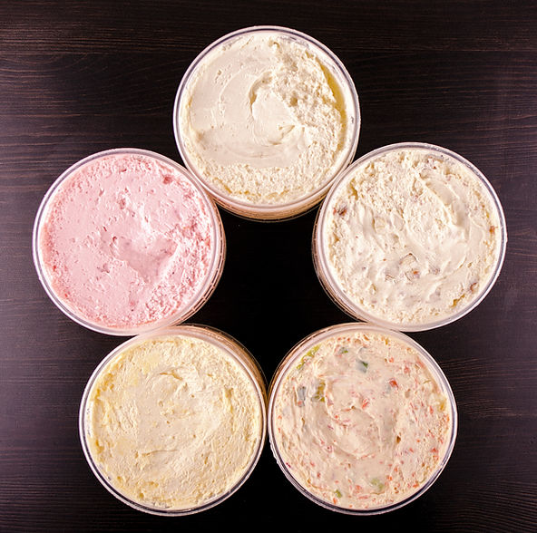 Cream cheese varieties