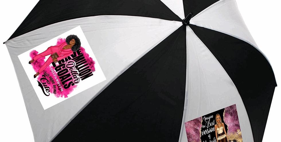 Million Dollar Goals Umbrella