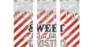 Sweet But A Little Twisted Candy Cane Tumbler