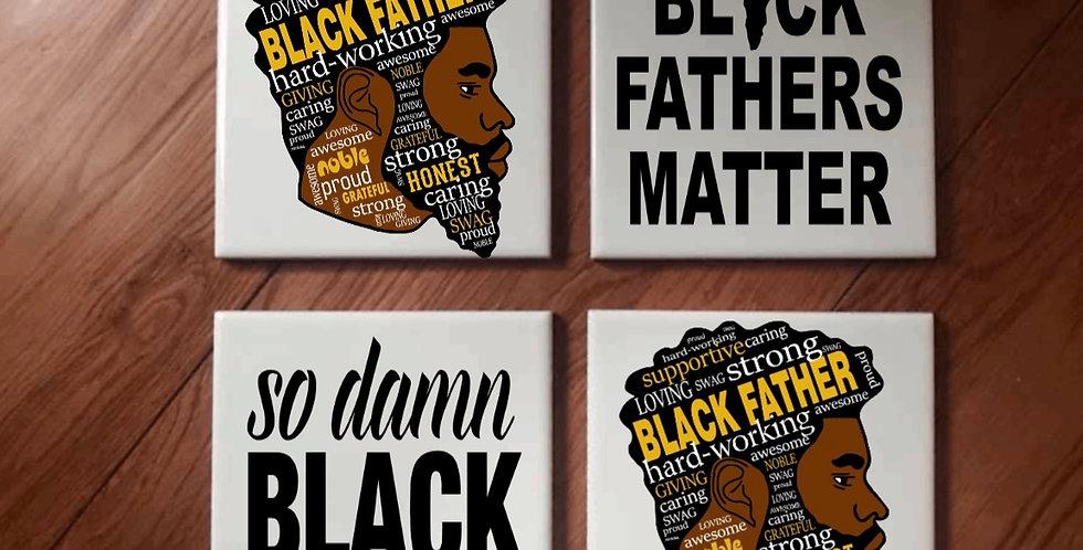 Black Father Coaster Set