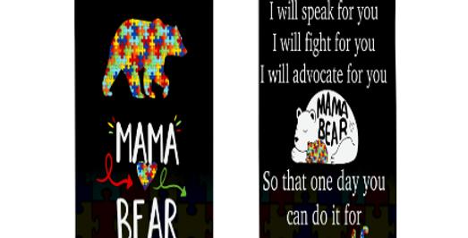 Autism Awareness Mama Bear