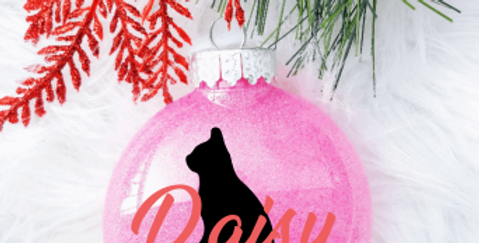 Pet Glittered Ornaments