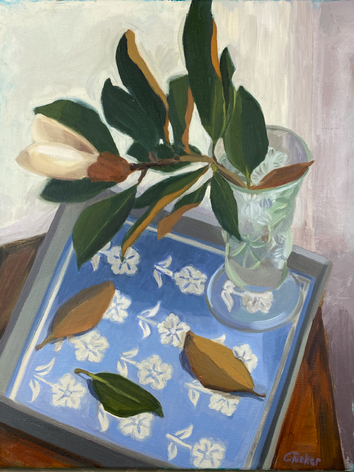 Magnolia with Blue Tray (SOLD)