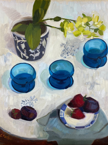 Parfait Plums and Orchid (SOLD)