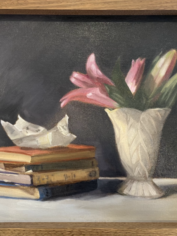 Lillies with Letter