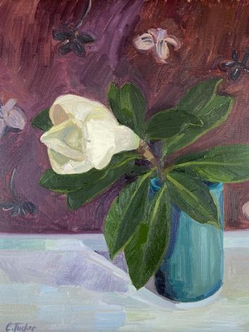 Magnolia with Gauguin's Wallpaper (SOLD)