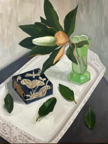Magnolia with Jewellery Box
