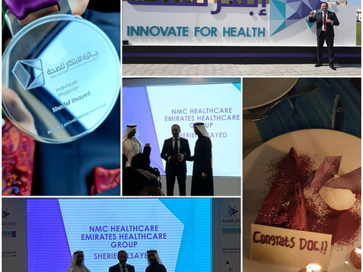 Ministry of Health & Prevention – Healthcare Innovation Award for Dr Sherief Elsayed