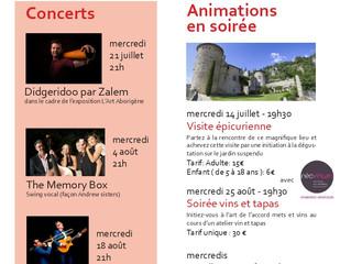 Animations estivales au Château