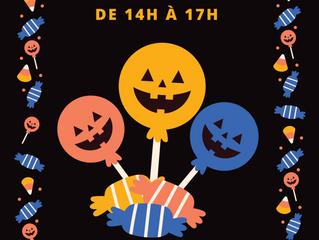 Samedi 06/11 de 14h à 17h: KID'S PARTY HALLOWEEN à la salle des fêtes de Vogüé