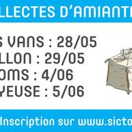 SICTOBA : Collecte gratuite d'amiante mai / juin 2021
