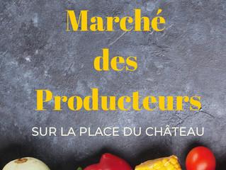 Marché des producteurs chaque jeudi sur la place du Château