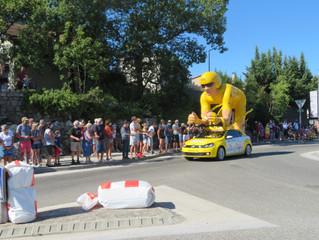 Jeudi 3 septembre : Le Tour de France est passé par Vogüé!