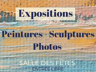 Expositions de peintures, sculptures et photos tout l'été à la salle des fêtes