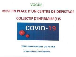Mise en place d'un centre de dépistage à Vogüé