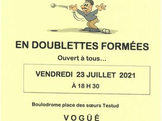 Vendredi 23/07: Concours de pétanque du Comité de Jumelage