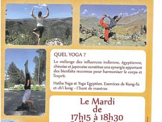 NOUVEAU: Cours de yoga à partir du mardi 06/10/2020
