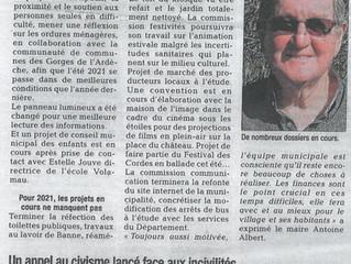 Les commissions en action - La Tribune du 28/01/2021