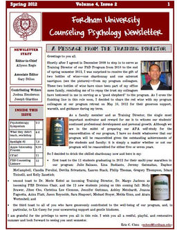 Fordham Counseling Psychology Newsletter (FordhamCPN ...