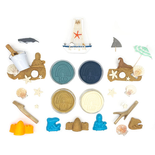 Beach Play Set (Dough and Themed Play Pieces)