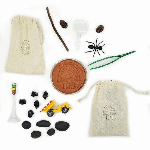 In the Dirt Mini Kit Duo (One Dough, 2 Mini Play Kits)