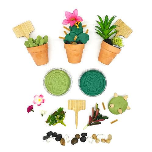 Succulent Garden Play Set (Dough and Themed Play Pieces)