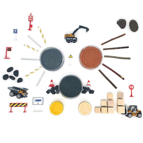 Construction Play Pieces (Play Pieces Only)