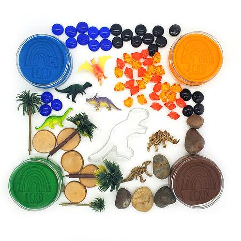 Dinosaur Island Play Kit (Dough and Play Pieces)