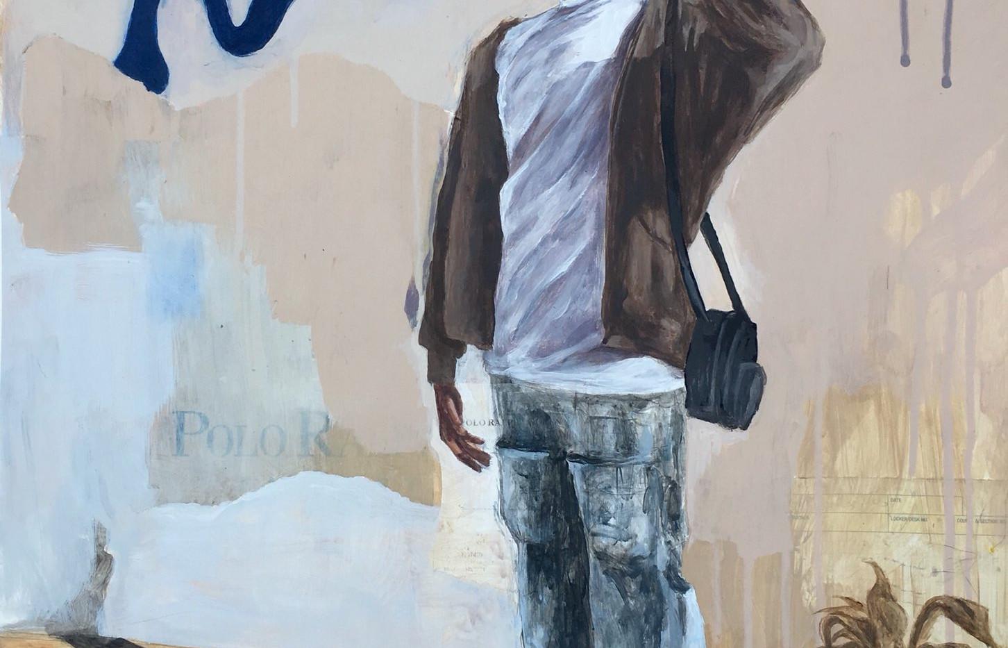 Abby Oyesam Major: Painting Title: Kwadjo Medium: Acrylic on Canvas Year: 2020 Dimensions: 18x24 Price: $1000