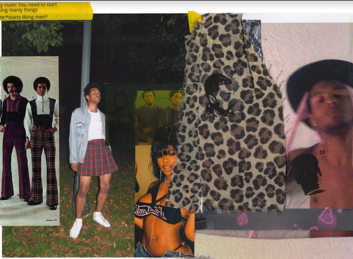 "London Williams Major: Painting  Title: Momma, I like hood niggas Medium:  Inkjet print on Vinyl Year: 2021  Dimensions: 44"" x 29.5"" Price: NFS"