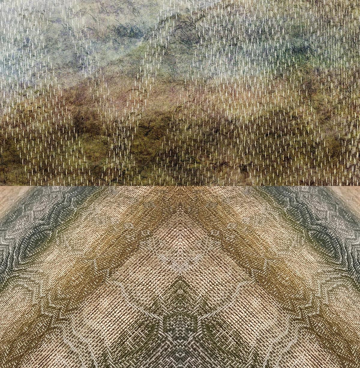 SANCTUARIES; A Print and Sound Installation by Kristine Barrett with Woven Textiles by Debbie Barrett-Jones