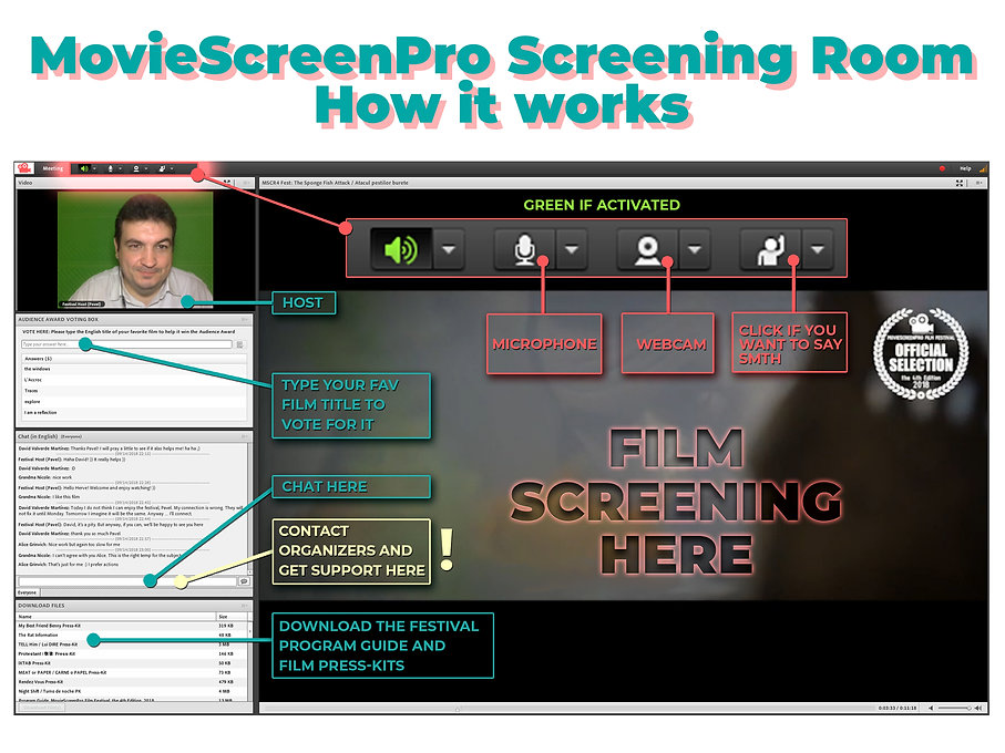 film festival screening room tutorial