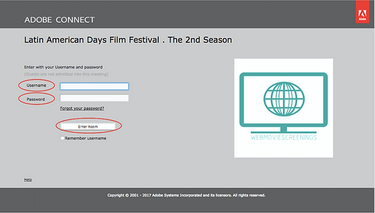 film festival room access page