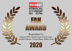 Audience Award RushDoc Fest 2020.002.jpe