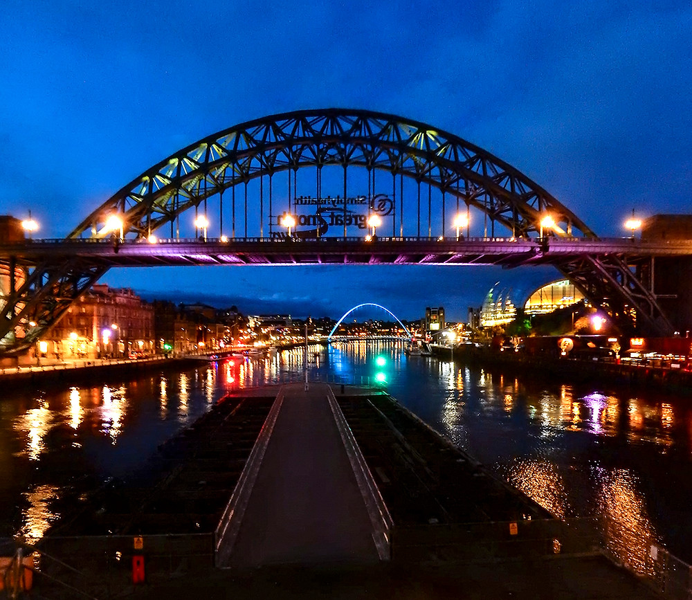 Tyne Bridge with Millenium Bridge in the background