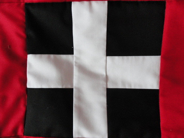 The Cornish flag of St Piran of Cornwall