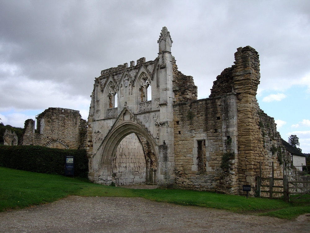 The ruins of the old priory at Kirkham