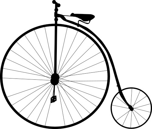 Is it cheating to ride a fixed wheel bike instead of a penny farthing?