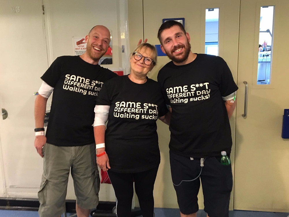 Nick, Carol and Darren, still waiting for a transplant