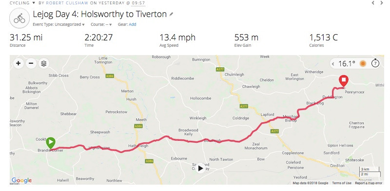 Holsworthy to Tiverton