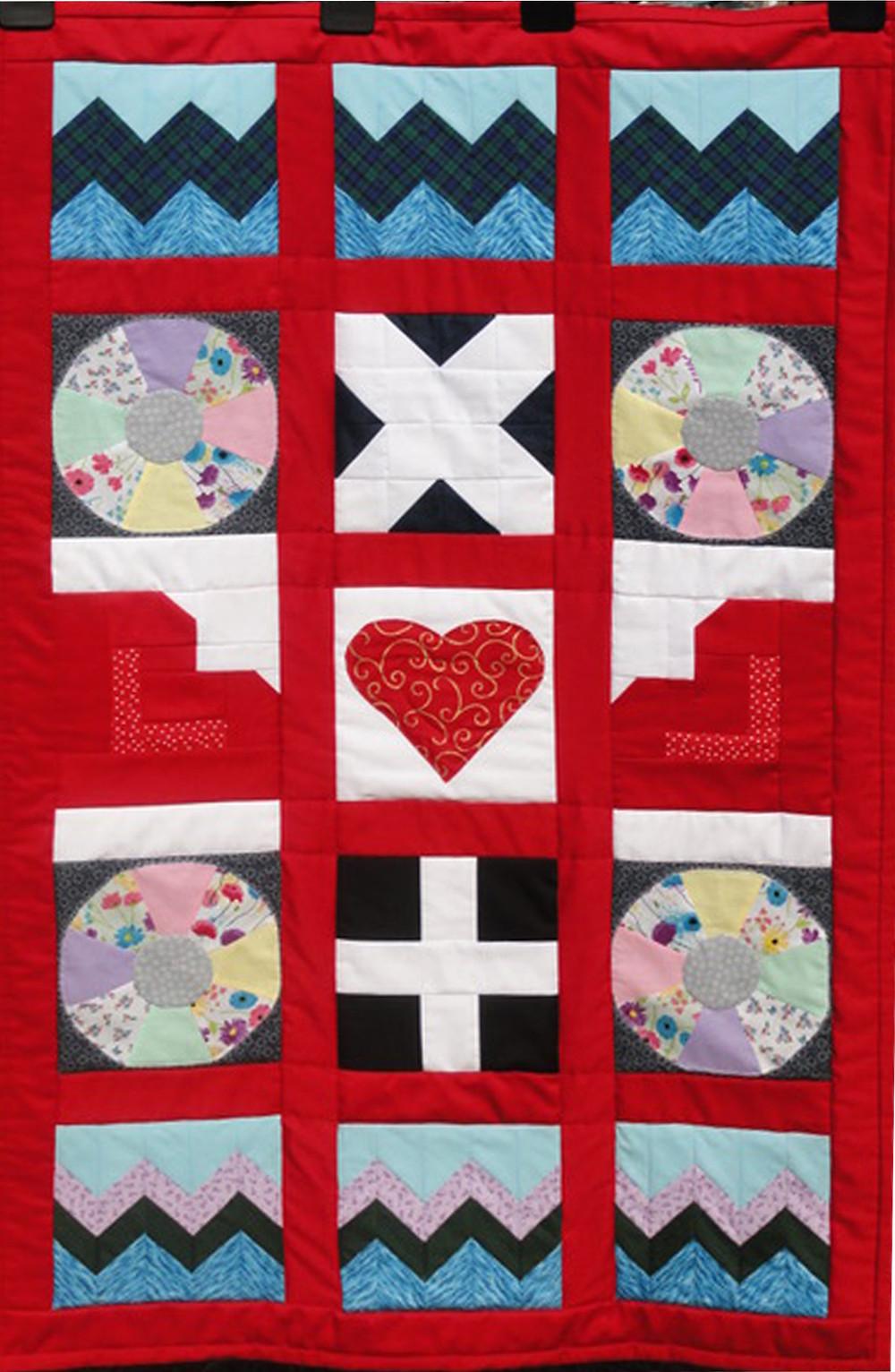 The Lejog quilt